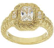 Judith Ripka Sterling & 14K Clad 1.85 cttw Diamonique Ring - J320298