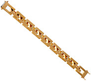 Bronze Polished Rectangle Link Bracelet by Bronzo Italia - J321198