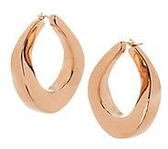 As Is Oro Nuovo 1-1/4 Graduated Twist Hoop Earrings, 14K - J321298