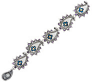 Barbara Bixby Sterling & 18K Gemstone Paisley 7 Bracelet - J322498