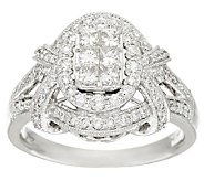 Michael Beaudry 1.00 cttw Diamond Oval Halo Ring, 14K Gold - J322598