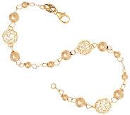 EternaGold 7 Open Work Bead Bracelet 14K Gold, 2.2g - J322998