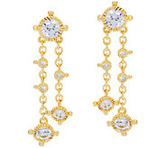 Judith Ripka 14K_Clad 118 Facet Diamonique_Drop Earrings - J323198