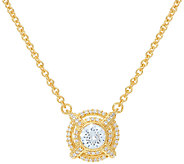 Judith Ripka Sterling & 14K Clad 1.40 cttw Diamonique Necklace - J323398