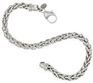 Bronze Polished Woven Spiga Bracelet by Bronzo Italia - J323998