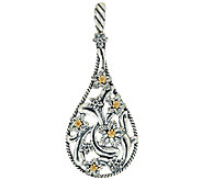 Carolyn Pollack Sterling Silver & Brass Desert Rose Enhancer - J324198