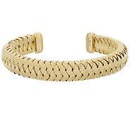 Bronzo Italia Textured Woven Oval Cuff Bracelet - J325798
