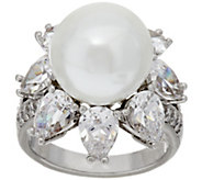As Is The Elizabeth Taylor South Sea-Style Pearl Simulated Ring - J332598