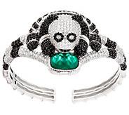 Judith Ripka Sterling Silver Diamonique & Gemstone Panda Penelope Cuff - J333998