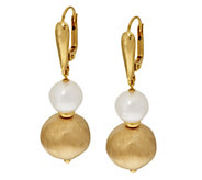 As Is Veronese 18K Clad Cultured Pearl & Satin Dangle Earrings - J334098