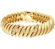 Joan Rivers Joans Polished and Pave Link Bracelet - J345998