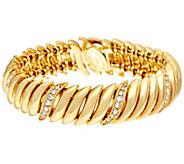 Joan Rivers Joans Polished and Pave Link Bracelet - J345998