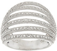 Sterling Silver 6 Row Diamond Cut Band Ring by Silver Style - J347398