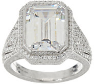 Judith Ripka Sterling Silver Bold 18.95 cttw Diamonique Ring - J347998