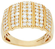 Pave White Diamond Wide Band Ring, 14K 1.00 cttw by Affinity - J349098