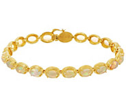 As Is Ethiopian Opal Sterling Silver 8 Tennis Bracelet - J350798