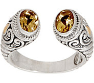 Artisan Crafted Sterling Silver & 18K Gold Gemstone Cuff Ring - J355198