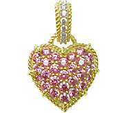 Judith Ripka 14K Clad Diamonique & Choice of Heart Enhancer - J376598