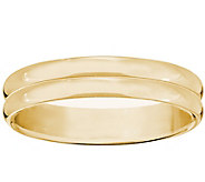 Mens 14K Yellow Gold 4mm Double Ribbed WeddingBand - J376698