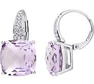 14K 12 cttw Rose de France & 1/5 cttw Diamond Earrings - J377198