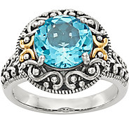 Sterling & 14K Round Gemstone Ring - J378198