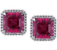 14K 7.15 cttw Tourmaline & 1/4 cttw Diamond Earrings - J379098