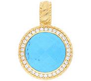 Judith Ripka Sterling & 14K Clad Turquoise Enhancer - J379998