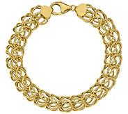 Italian Gold 8 Loose Byzantine Link Bracelet 14K, 7.8g - J381598