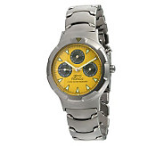 Gino Franco Unisex Yellow Dial Multifunction Watch - J107099