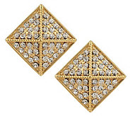 Joan Rivers Crystal Pyramid Button Earrings - J159499