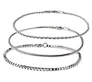 Stainless Steel Set of 3 Chain Ankle Bracelets - J260299