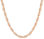 Bronze 36 Polished Twisted Rope Necklace by Bronzo Italia - J276099
