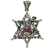 Barbara Bixby Sterling & 18K Multi-Gemstone Star of David Enhancer - J278499