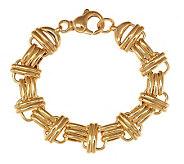 Veronese 18K Clad 8 Bold Polished Status Link Bracelet - J281699