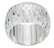 Sterling Diamond Cut Bold Band Ring - J290299