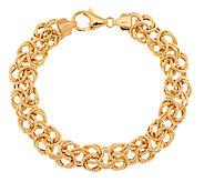 VicenzaGold 7-1/4 Bold Woven Byzantine Bracelet 14K Gold, 7.7g - J290999