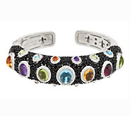 Judith Ripka Sterling 10.80 cttw Multi-Gemstone Hinged Cuff - J291799