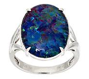 Oval Opal Triplet Sterling Ring - J294499
