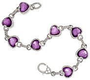 Judith Ripka Sterling Raspberry Doublet Heart Bracelet 8 - J296299