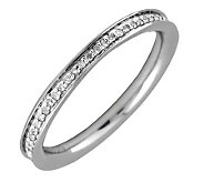 Simply Stacks Sterling & Diamonds Polished 2.25 mm Ring - J299299