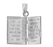 Holy Bible Book Pendant Sterling - J304899