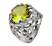 Hagit Gorali 7.15 ct Limon Quartz Ring, Sterlin g - J305499