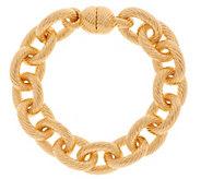 Oro Nuovo 7-1/4 Status Ribbed Oval Rolo Link Bracelet, 14K - J318599