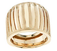 As Is EternaGold Bold Domed Striata Pattern Band Ring, 14K - J319799