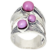 Sterling Silver Cultured Pearl Textured Ring by Or Paz - J321099