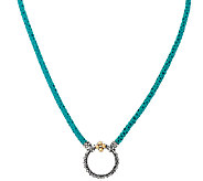 Barbara Bixby Sterling & 18K 28 Pebble Leather Necklace - J321799