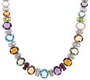 Judith Ripka Sterling 18 95.00 cttw Gemstone Necklace - J323199
