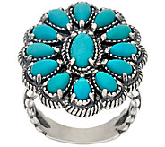 Sleeping Beauty Turquoise Sterling Cluster Ring by American West - J323899