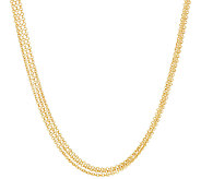 Judith Ripka Sterling & 14K Clad 18 Multi Strand Toggle Necklace - J325299