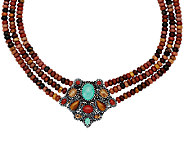 Multi-Gemstone Sterling Silver Statement Necklace by American West - J325999